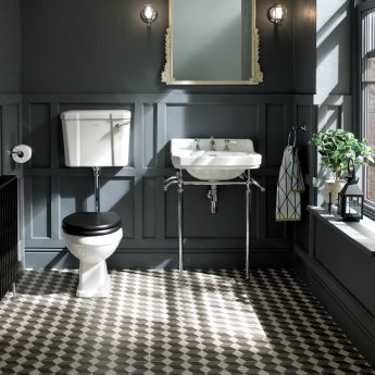 Bayswater Fitzroy Comfort Height Low Level Toilet with Lever Cistern (excluding Seat)