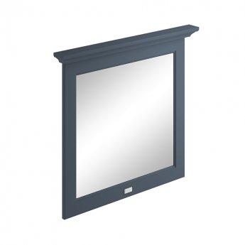 Bayswater Flat Bathroom Mirror 800mm Wide - Stiffkey Blue