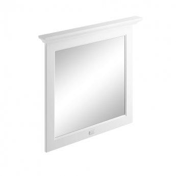 Bayswater Flat Bathroom Mirror 800mm Wide - Pointing White