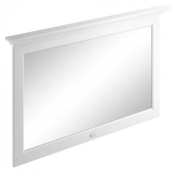 Bayswater Flat Bathroom Mirror 1200mm Wide - Pointing White