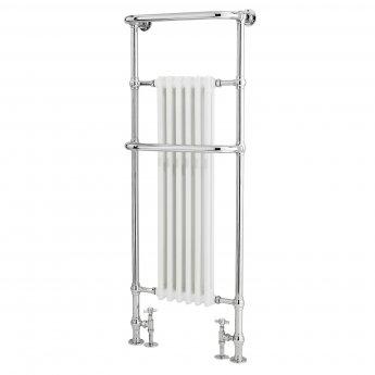Bayswater Franklyn Radiator Towel Rail 1500mm High x 575mm Wide White/Chrome