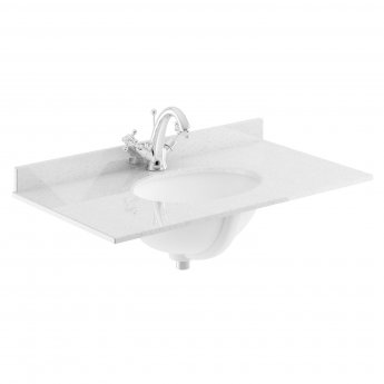 Bayswater Grey Marble Top Furniture Basin 800mm Wide 1 Tap Hole