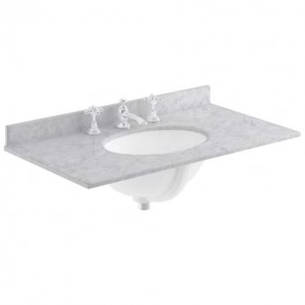Bayswater Grey Marble Top Furniture Basin 800mm Wide 3 Tap Hole