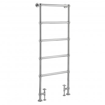 Bayswater Juliet Floor Mounted Traditional Towel Rail 1549mm x 598mm Chrome