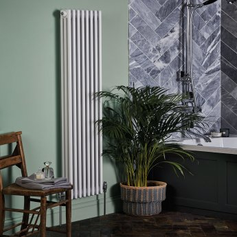 Bayswater Nelson 3-Column Vertical Radiator 1500mm High x 381mm Wide White