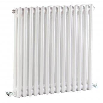 Bayswater Nelson 2-Column Horizontal Radiator 600mm High x 650mm Wide White