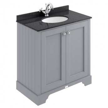 Bayswater Plummett Grey 2-Door Vanity Unit 800mm Wide (excluding Basin)