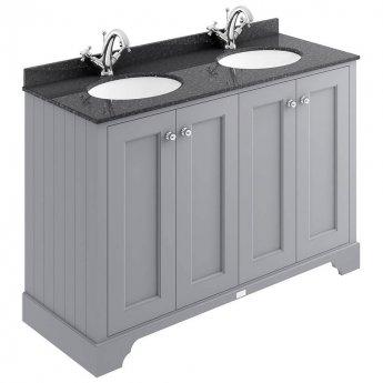 Bayswater Plummett Grey 4-Door Vanity Unit 1200mm Wide (Excluding Basin)