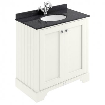 Bayswater Pointing White 2-Door Vanity Unit 800mm Wide (excluding Basin)