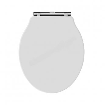 Bayswater Porchester Traditional Soft Close Toilet Seat - White