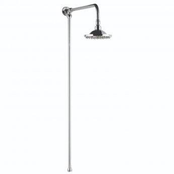 Bayswater Standard Rigid Riser Shower Kit with Fixed Head Chrome