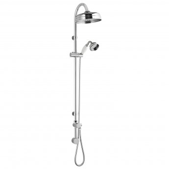 Bayswater Concealed Rigid Riser Shower Kit with Fixed Head and Handset Chrome