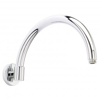 Bayswater Curved Wall Mounted Shower Arm Chrome