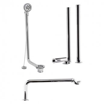 Bayswater Traditional Roll Top Bath Pack Chrome
