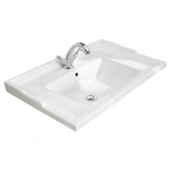 Bayswater Traditional Furniture Basin 600mm Wide 1 Tap Hole