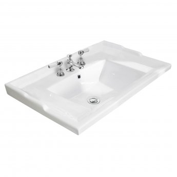 Bayswater Traditional Furniture Basin 600mm Wide 3 Tap Hole