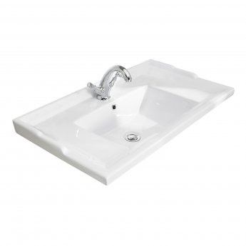 Bayswater Traditional Furniture Basin 800mm Wide 1 Tap Hole