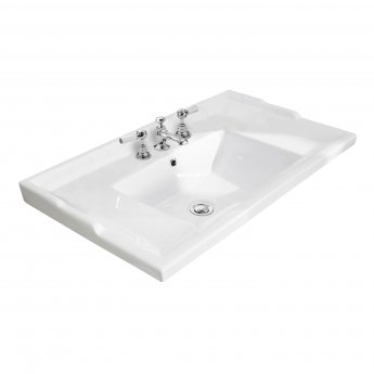 Bayswater Traditional Furniture Basin 800mm Wide 3 Tap Hole