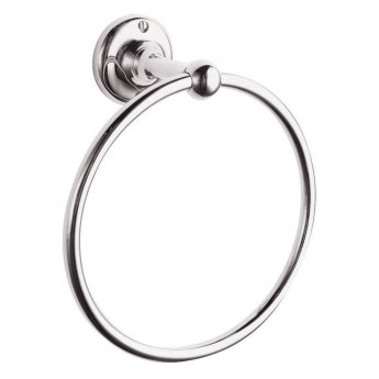 Bayswater Traditional Round Towel Ring Chrome
