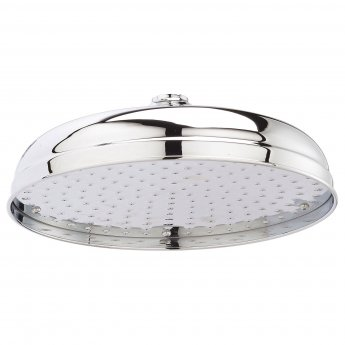 Bayswater Traditional 12 Inch Apron Fixed Shower Head Chrome
