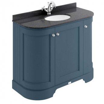 Bayswater Stiffkey Blue 3-Door Curved Vanity Unit 1000mm Wide (Excluding Basin)