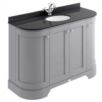 Bayswater Plummett Grey 4-Door Curved Vanity Unit 1200mm Wide (Excluding Basin)