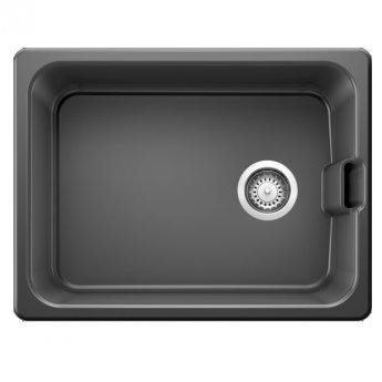 Blanco Belfast 1.0 Bowl Undermount Ceramic Kitchen Sink with Waste 595mm L x 455mm W - Lava Grey