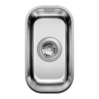 Blanco Supra 180-U 1.0 Bowl Undermount Kitchen Sink with Waste 201mm L x 361mm W - Stainless Steel Brushed