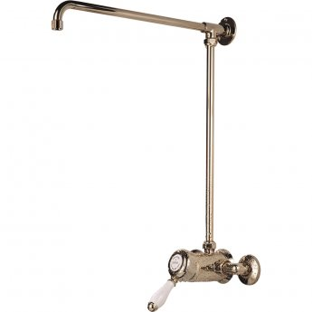 Bristan 1901 Fixed Shower Riser Rail Only Champagne Gold