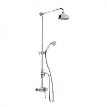 Bristan 1901 Dual Exposed Mixer Shower with Shower Kit + Fixed Head