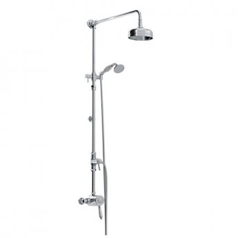 Bristan 1901 Sequential Exposed Mixer Shower with Shower Kit + Fixed Head