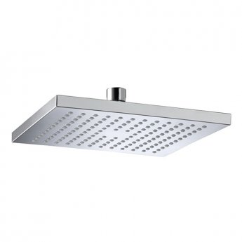 Bristan ABS Square Fixed Shower Head, 200mm x 200mm, Chrome