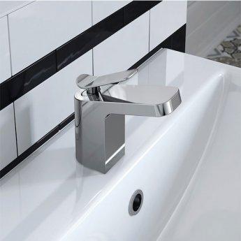 Bristan Alp Mono Basin Mixer Tap and Bath Filler Tap, Chrome