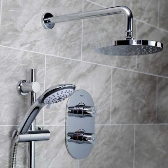 Bristan Artisan Dual Concealed Mixer Shower with Shower Kit + Fixed Head