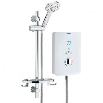 Bristan Bliss Electric Shower, 10.5kw, White