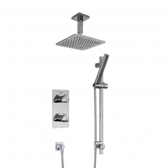 Bristan Bright Dual Concealed Mixer Shower with Shower Kit + Ceiling Mounted Fixed Head