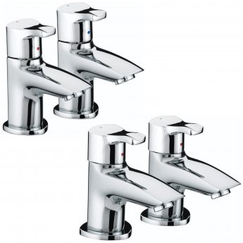 Bristan Capri Basin Taps and Bath Taps, Chrome