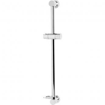 Bristan Casino Riser Rail with Fixed Position Bracket, Chrome