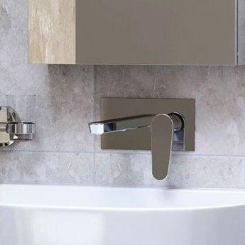 Bristan Claret Bath Filler Tap, Wall Mounted, White