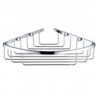 Bristan Closed Front Cover Fixed Wire Basket, Chrome