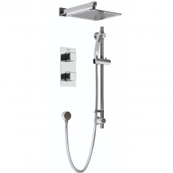 Bristan Cobalt Dual Concealed Mixer Shower with Shower Kit + Fixed Head
