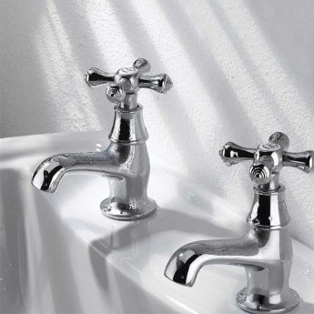 Bristan Colonial Basin Taps - Chrome Plated