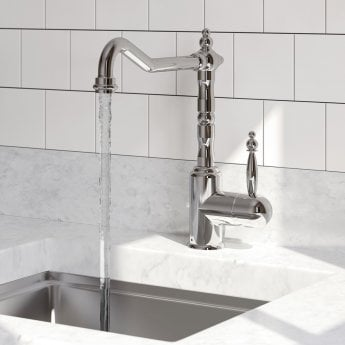 Bristan Colonial Single Lever Easyfit Kitchen Sink Mixer Tap - Chrome