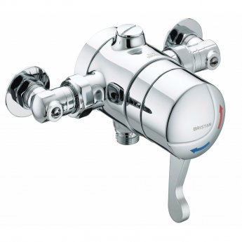 Bristan Commercial TS1503 Opac Exposed Shower Valve with Isolation Elbow Lever Handle - Chrome