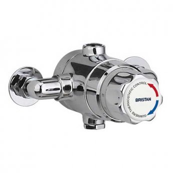 Bristan Commercial TS1503 Thermostatic Mixing Valve 15mm - Chrome (No Shut-off)