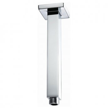 Bristan Square Ceiling Mounted Shower Arm, 200mm Length, Chrome