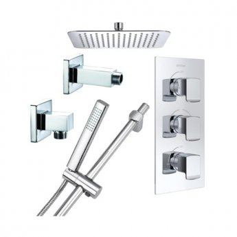 Bristan Descent Triple Concealed Mixer Shower with Shower Kit + Fixed Head