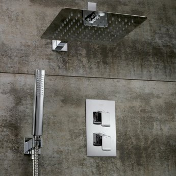 Bristan Descent Dual Concealed Mixer Shower with Shower Kit + Fixed Head