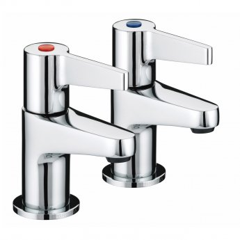 Bristan Design Utility Lever Basin Taps - Chrome Plated