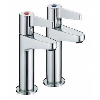 Bristan Design Utility Lever Kitchen Sink Taps Pair - Chrome